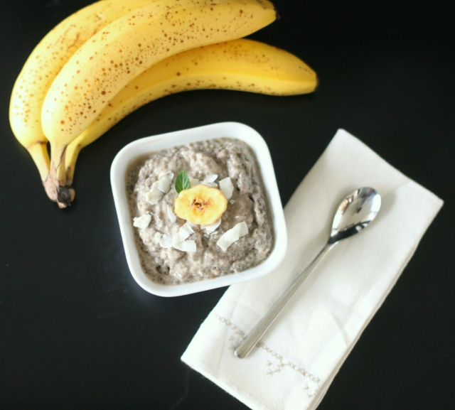 Produce on Parade: Banana Coconut Cream Chia Pudding with Cardamom
