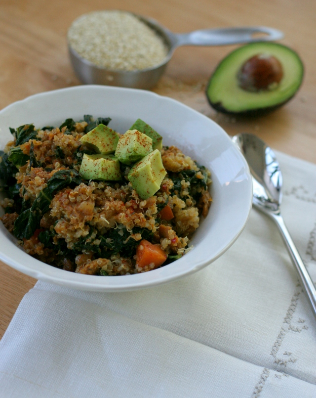 Sweet Potato, Kale and Sausage with Quinoa