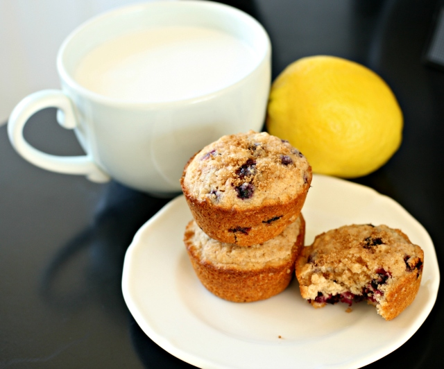 Produce on Parade: Lemon Blueberry Oat Muffins