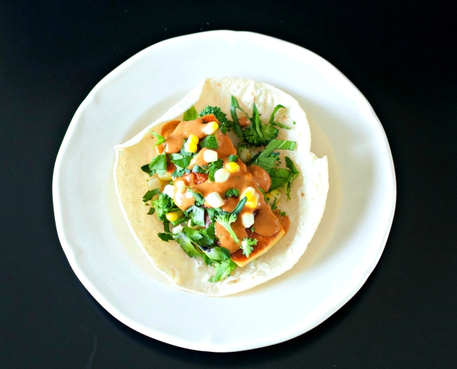 Produce on Parade: Spicy Peanut Thai Tacos